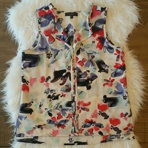 Sanctuary Floral Sleeveless Blouse Small